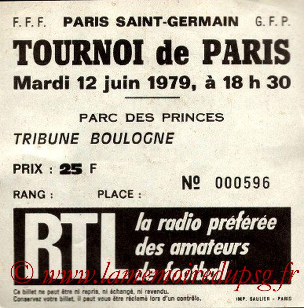 1979-06-12  PSG-Etoile Rouge de Belgrade (Demi Finale Tournoi de Paris)