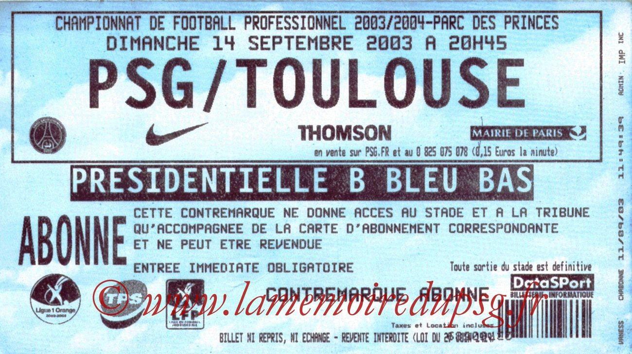 2003-09-14   PSG-Toulouse (6ème L1)