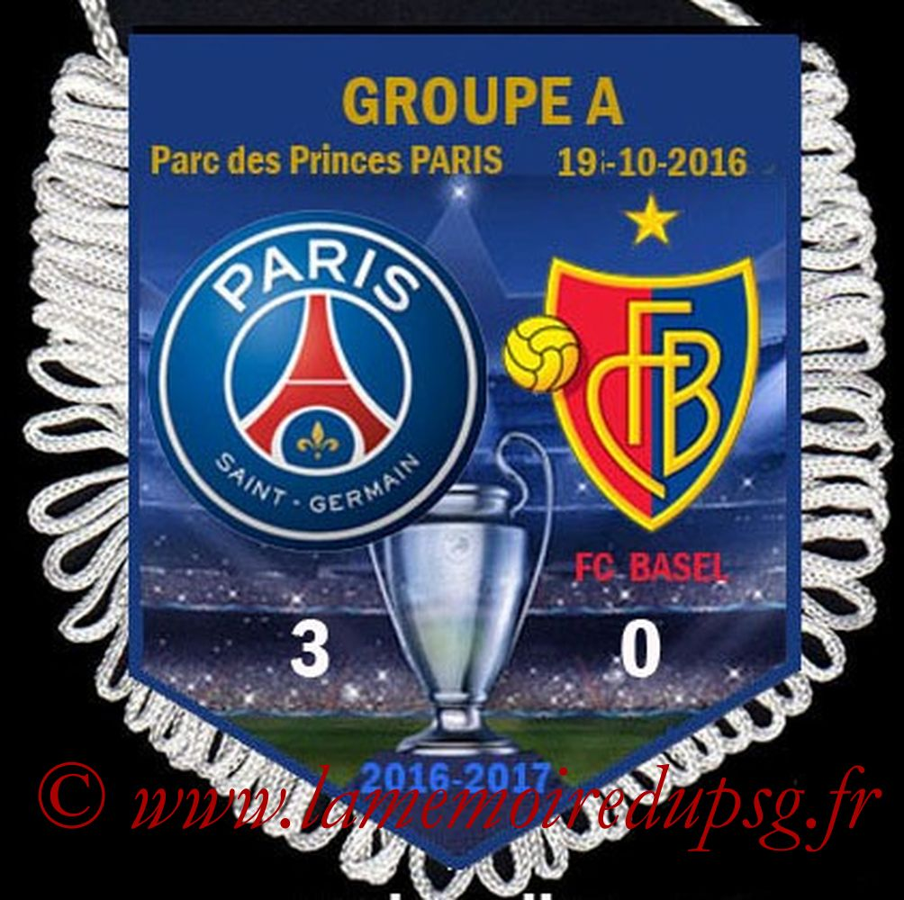 2016-10-16  PSG-Bâle (3ème L1)