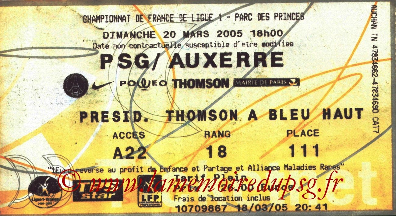 2005-03-20  PSG-Auxerre (30ème L1, Ticketnet)