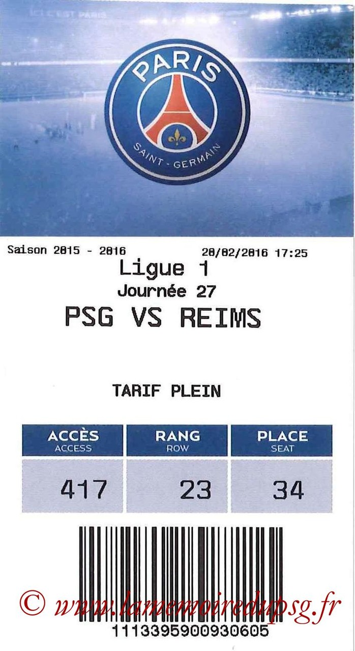 2016-02-20  PSG-Reims (27ème L1, E-ticket bis)