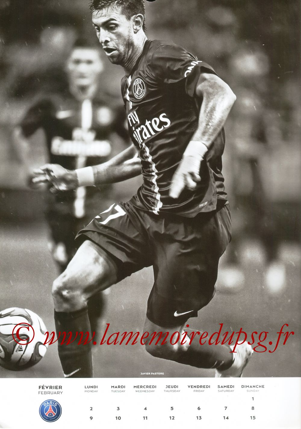 Calendrier PSG 2015 - Page 03 - Javier PASTORE