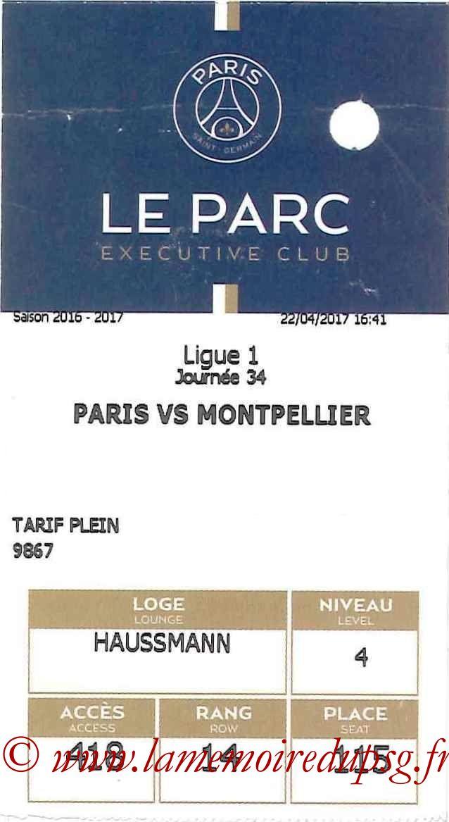 2017-04-22  PSG-Montpellier (34ème L1, E-ticket Executive club)
