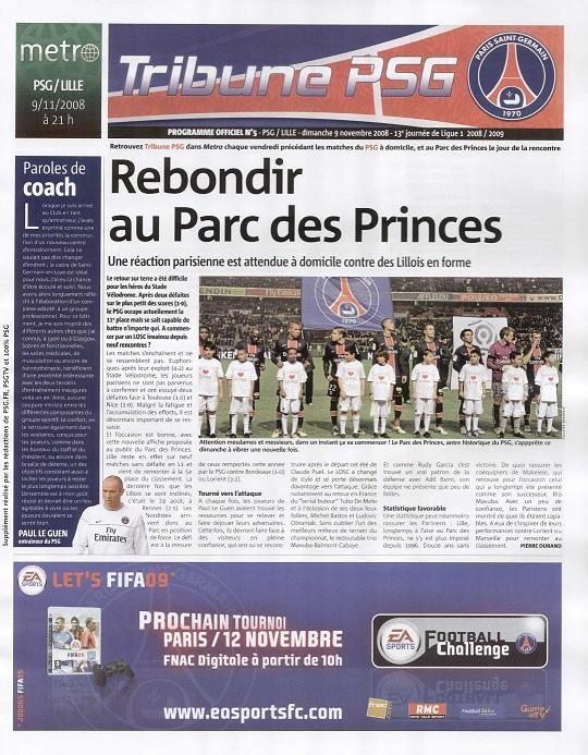 2008-11-09  PSG-Lille (13ème L1, Tribune PSG N°5)
