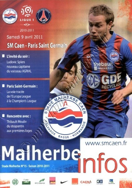 2011-04-09  Caen-PSG (30ème L1,Malherbe infos N°15)