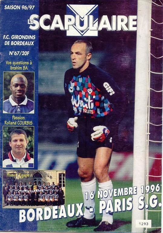 1996-11-17  Bordeaux-PSG (18ème D1, Le Scapulaire N°67)