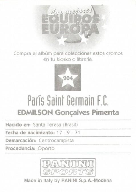 N° 204 - Gonçalves EDMILSON (Verso)