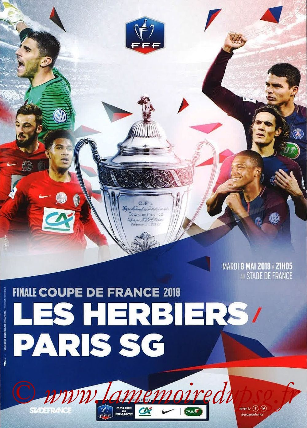 2018-05-08  Les Herbiers-PSG (Finale CF à Saint-Denis, Programme FFF)