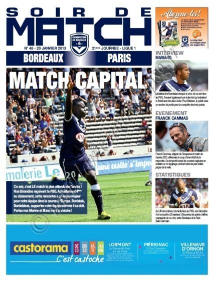 2013-01-20  Bordeaux-PSG (21ème L1, Soir de match N°48)