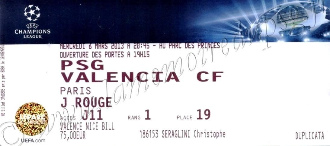 2013-03-06  PSG-Valence (8ème Finale Retour C1)