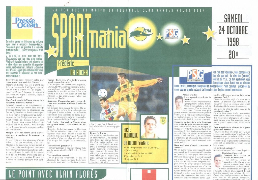 1998-10-24  Nantes-PSG (10ème D1, Sportmania)