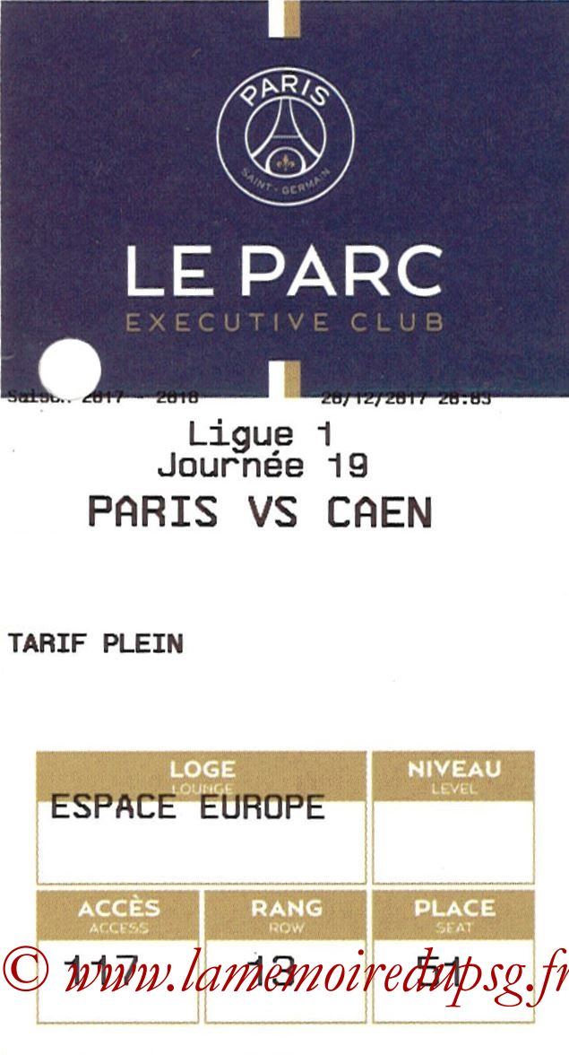 2017-12-20  PSG-Caen (19ème L1, E-ticket Executive club)