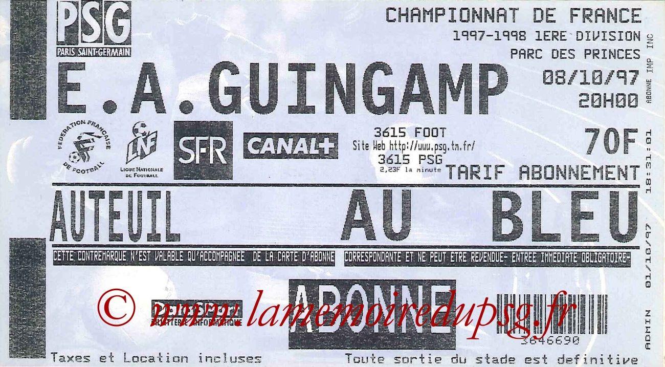 1997-10-08  PSG-Guingamp (11ème D1)