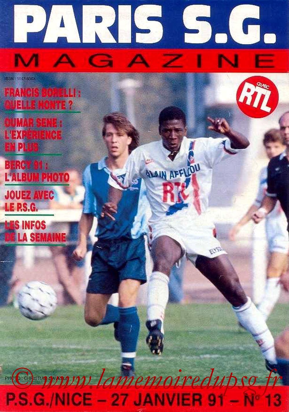 1991-01-27  PSG-Nice (24ème D1, Paris SG Magazine N°13)