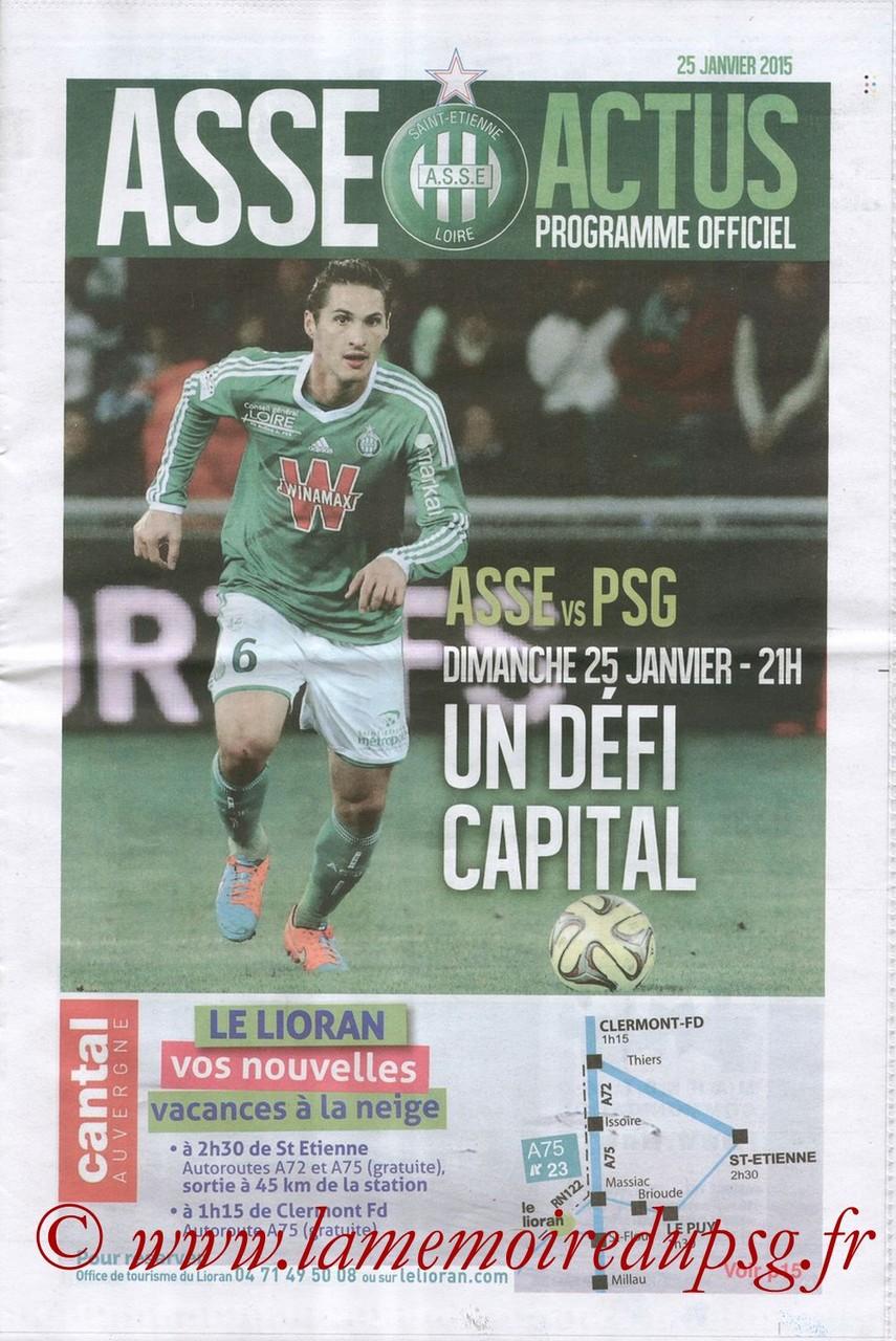 2015-01-25  Saint Etienne-PSG (22ème L1, ASSE Actu)