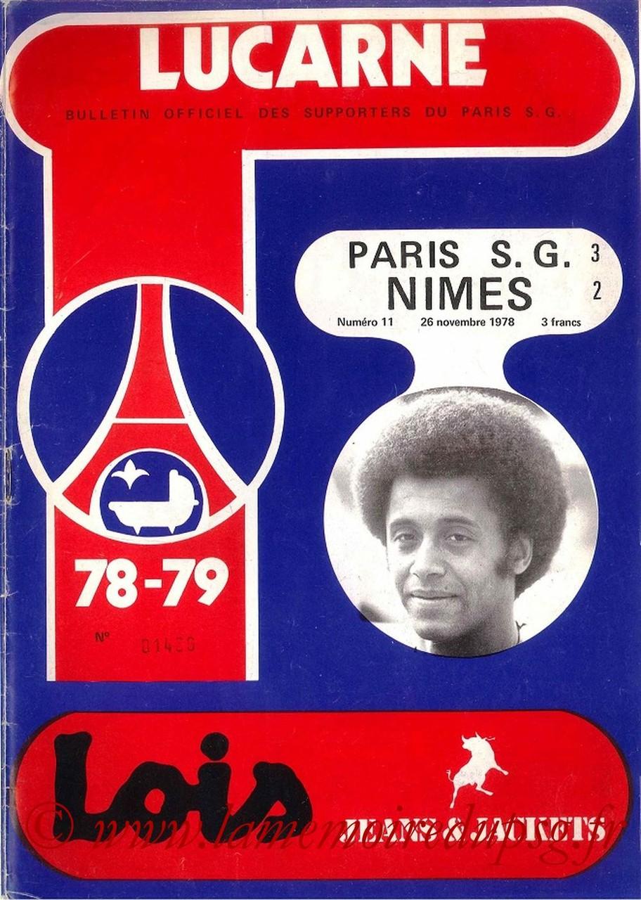 1978-11-26  PSG-Nîmes (21ème D1, Lucarne N°11)
