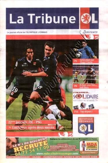 2010-01-31  Lyon-PSG (22ème L1, La Tribune OL N°37)
