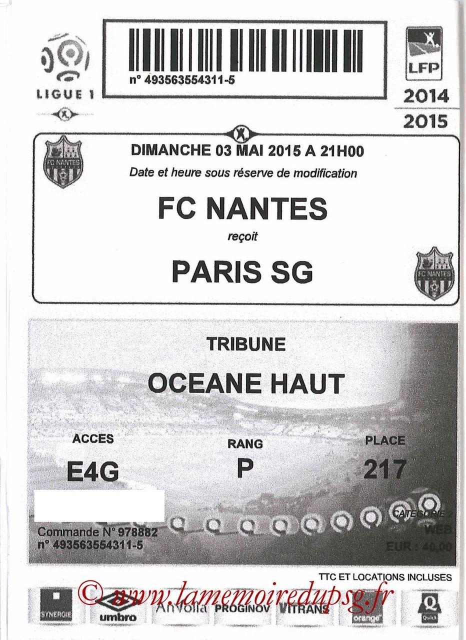 2015-05-03  Nantes-PSG (35ème L1, E-Ticket)