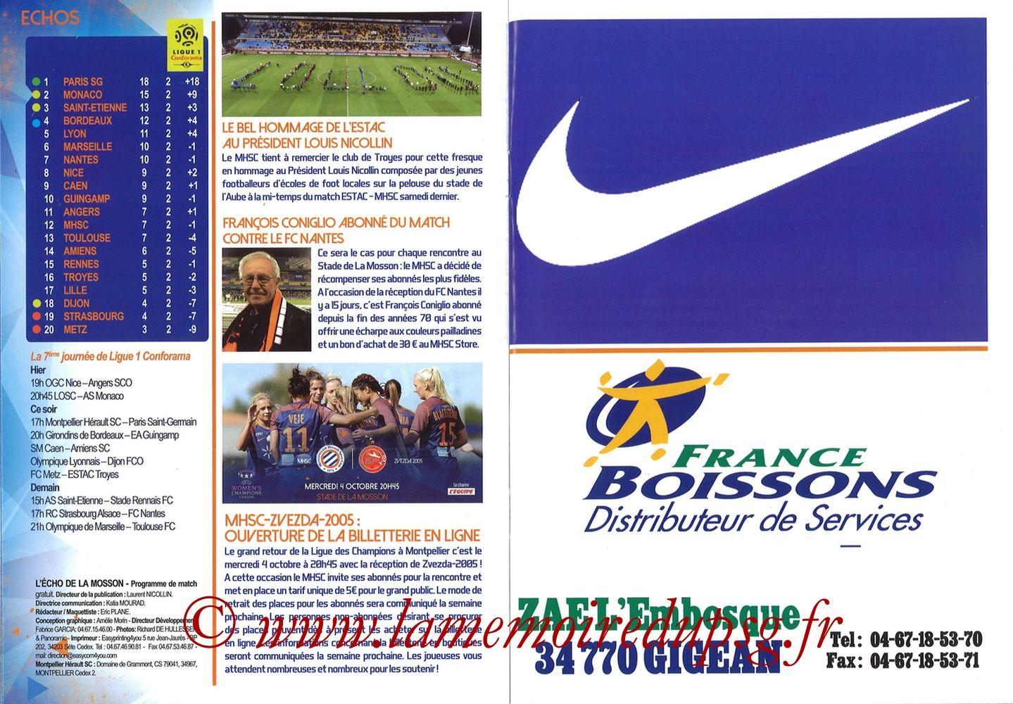 2017-09-23  Montpellier-PSG (7ème L1, L'Echo de la Mosson N°4) - Pages 12 et 13
