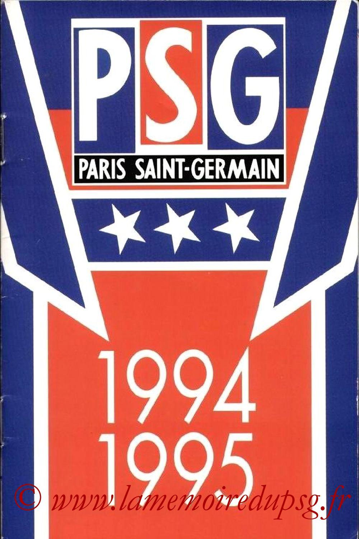 1994-95 - Guide de la Saison PSG