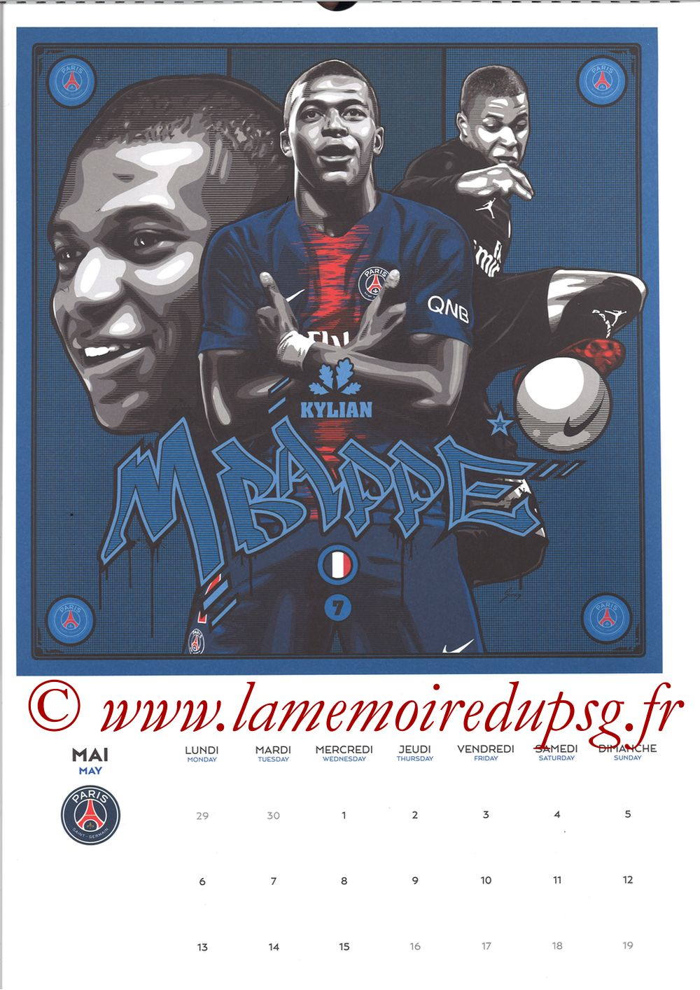 Calendrier PSG 2019 - Page 09 - Kylian MBAPPE