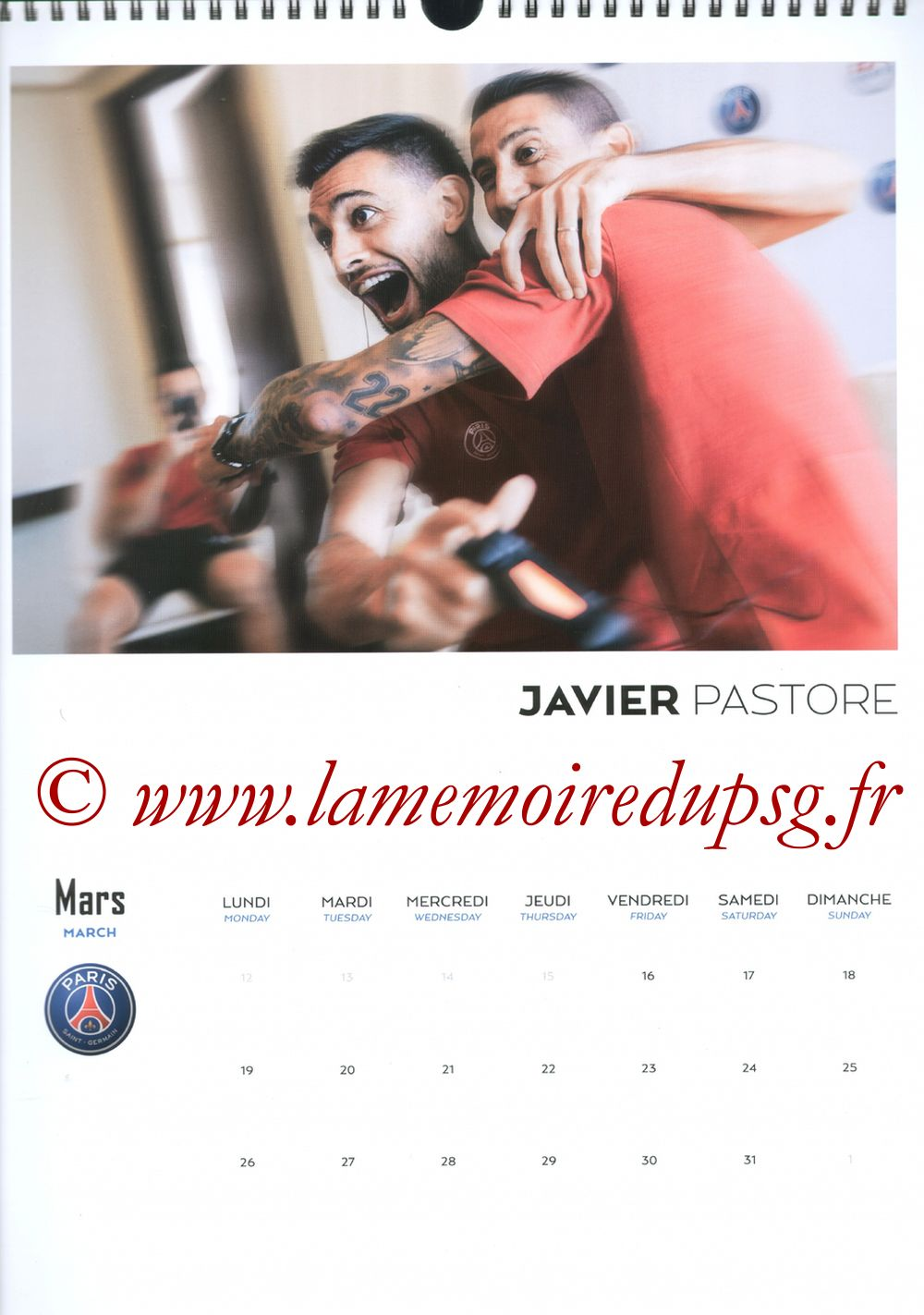 Calendrier PSG 2018 - Page 06 - Javier PASTORE