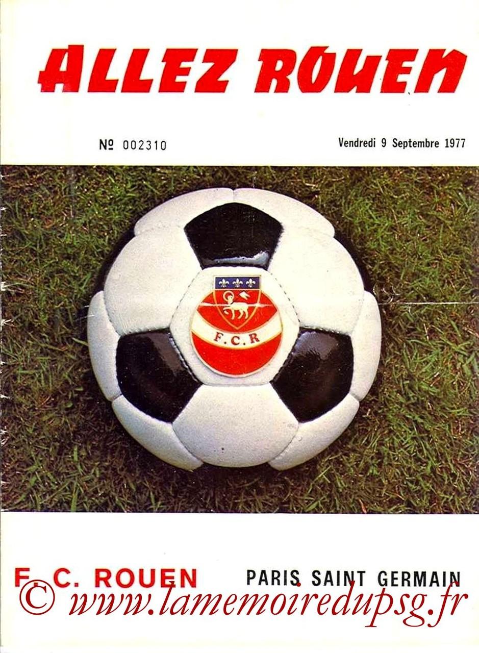 1977-09-09  Rouen-PSG (7ème D1, Allez Rouen)