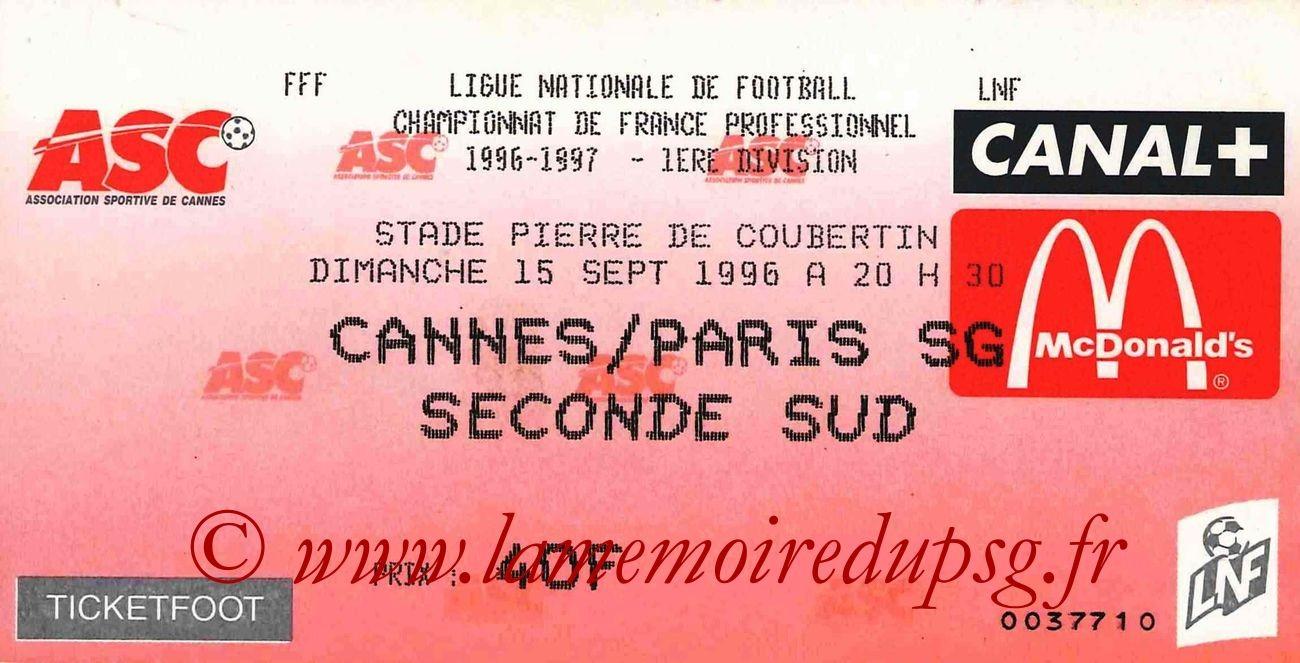 1996-09-15  Cannes-PSG (7ème D1)