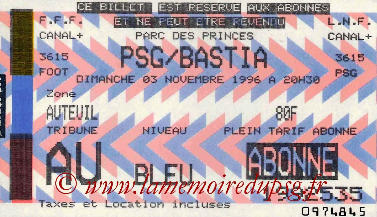 1996-11-03  PSG-Bastia (15ème D1)