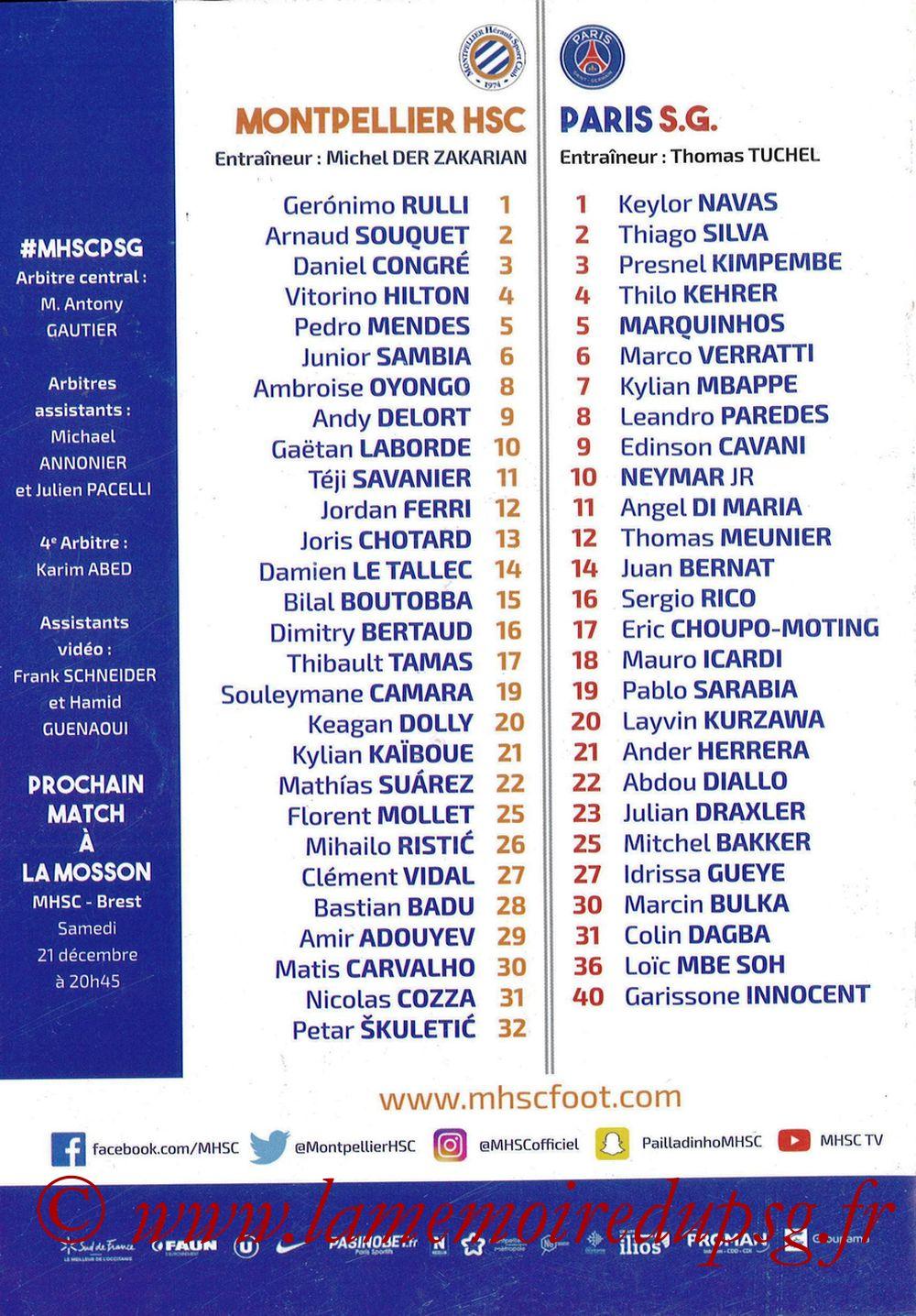 2019-12-07  Montpellier-PSG (17ème L1, L'Echo de la Mosson N°9) - Pages 32