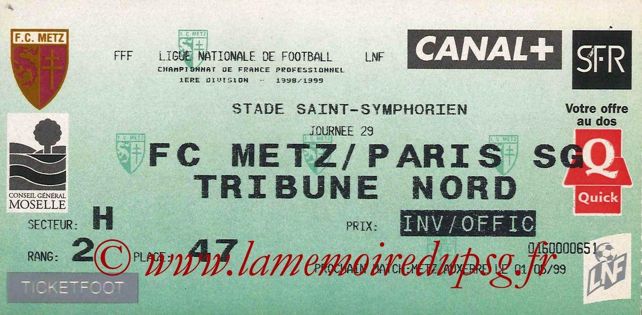 1999-04-14  Metz-PSG (29ème D1)