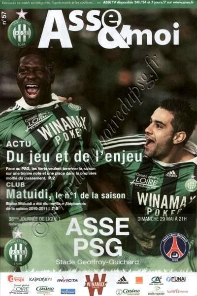 2011-05-29  Saint Etienne-PSG (38ème L1, ASSE & moi N°57)