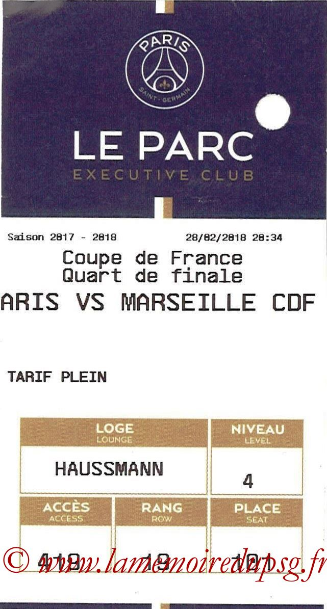 2018-02-28  PSG-Marseille (Quart CF, E-ticket Executive club)