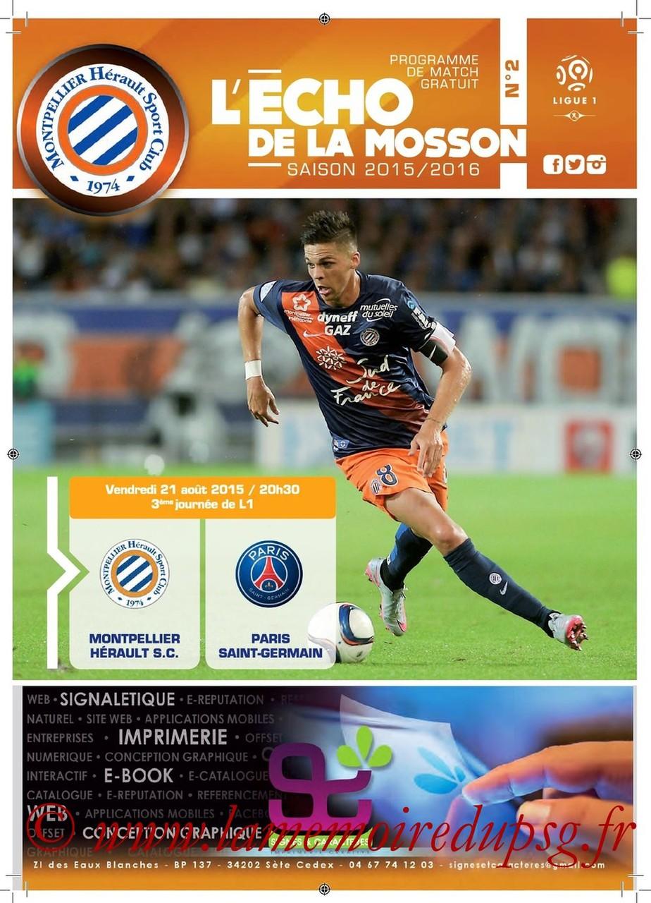 2018-08-22  Montpellier-PSG (3ème L1, L'écho de la Mosson N°2)
