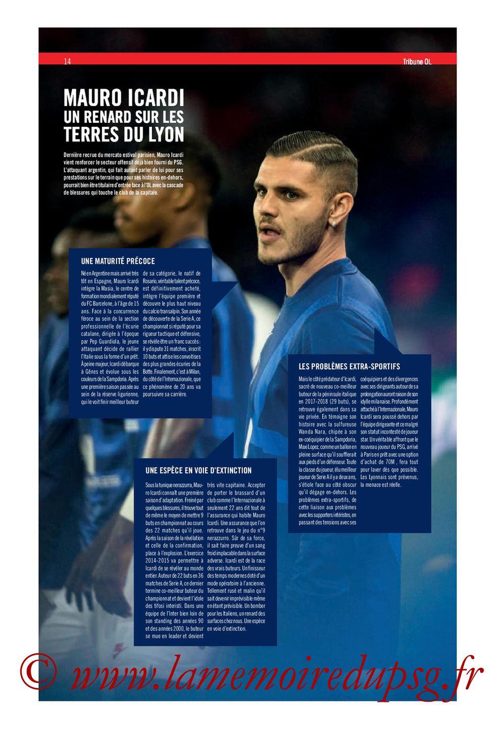 2019-09-22  Lyon-PSG (6ème L1, Tribune OL N°284) - Page 14