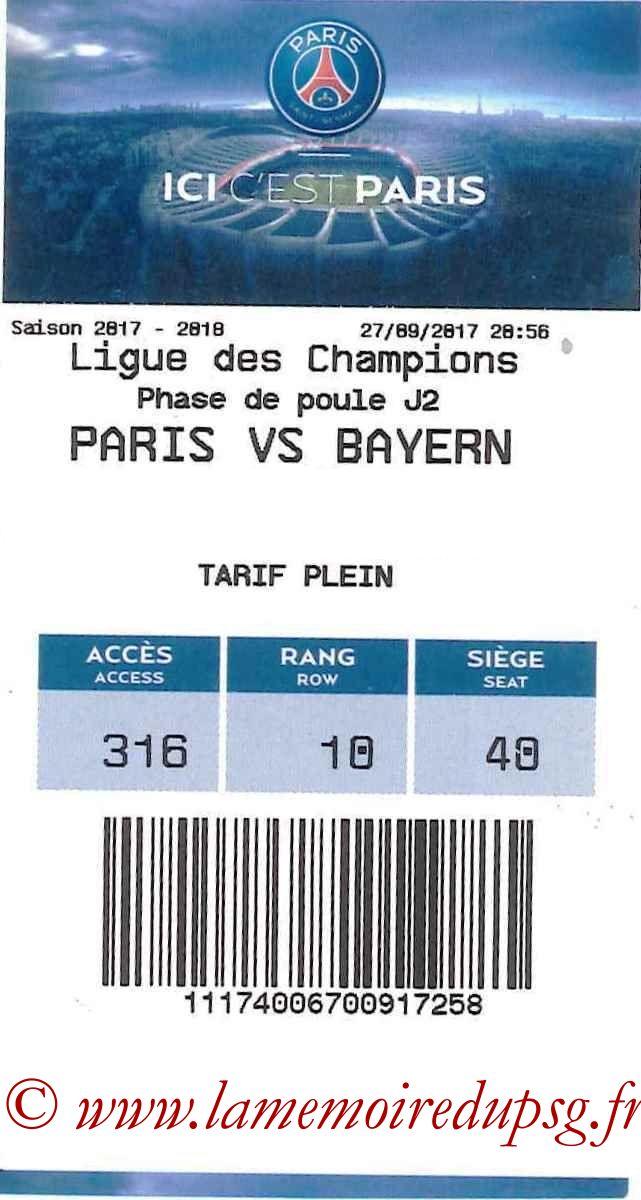 2017-09-27  PSG-Bayern (2ème C1, E-ticket 2)
