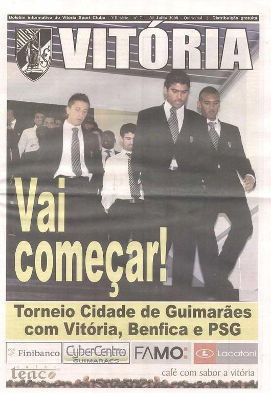2008-08-01 et 02  Benfica-PSG et Guimaraes-PSG  (Tournoi Centenaire ville de Guimaraes, Guimaraes N° 71)