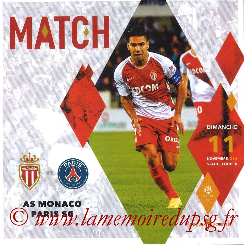 2018-11-11  Monaco-PSG (13ème L1, Programme officiel)