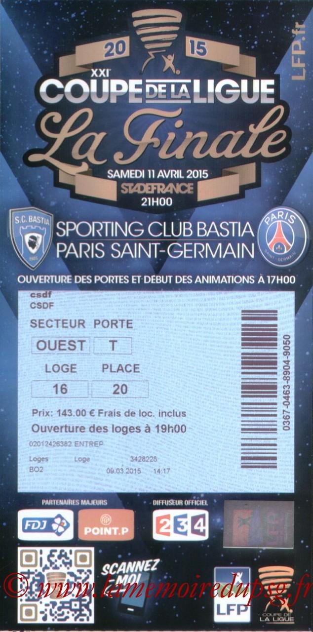2015-04-11  Bastia-PSG (Finale CL à Saint-Denis)