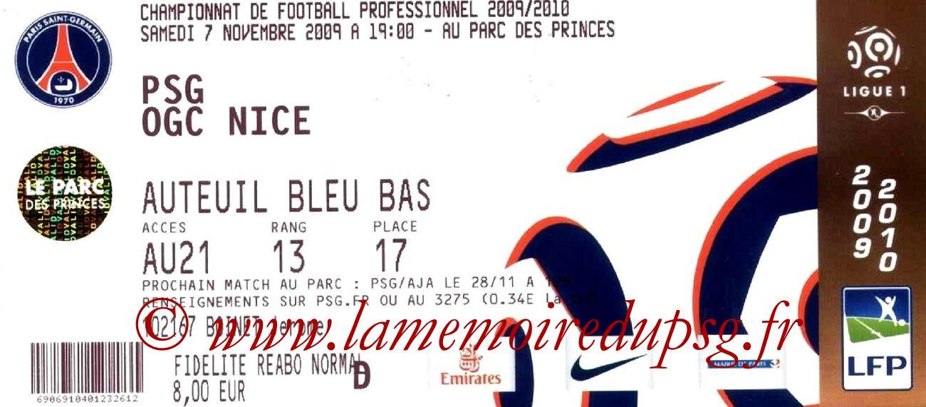 2009-11-07  PSG-Nice (13ème L1)