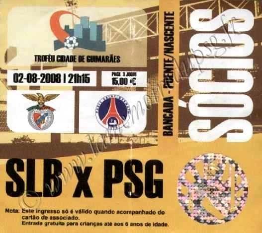 2008-08-02  Benfica-PSG (Tournoi Centenaire ville de Guimaraes)