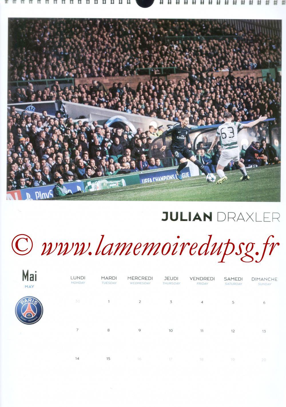 Calendrier PSG 2018 - Page 09 - Julian DRAXLER