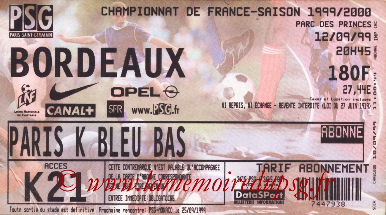 1999-09-12  PSG-Bordeaux (6ème D1)