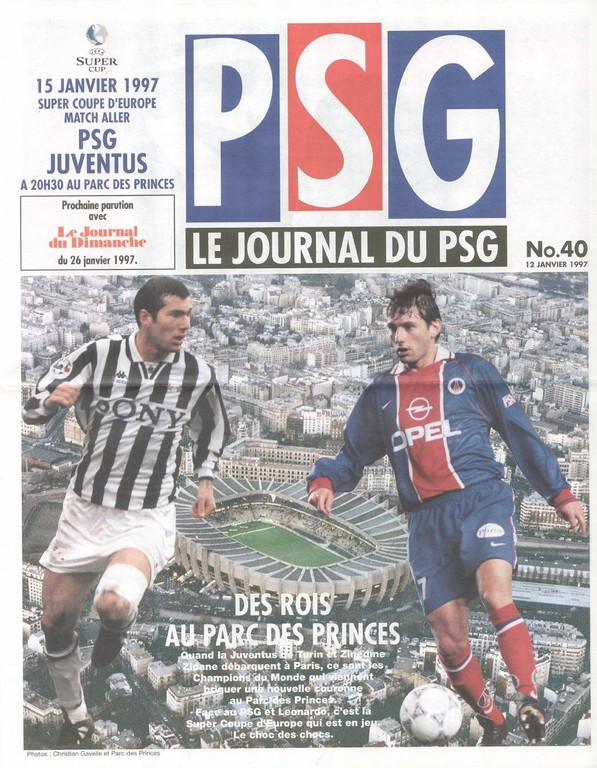 1997-01-15  PSG-Juventus Turin (Super Coupe d'Europe Aller, Le Journal du PSG N°40)
