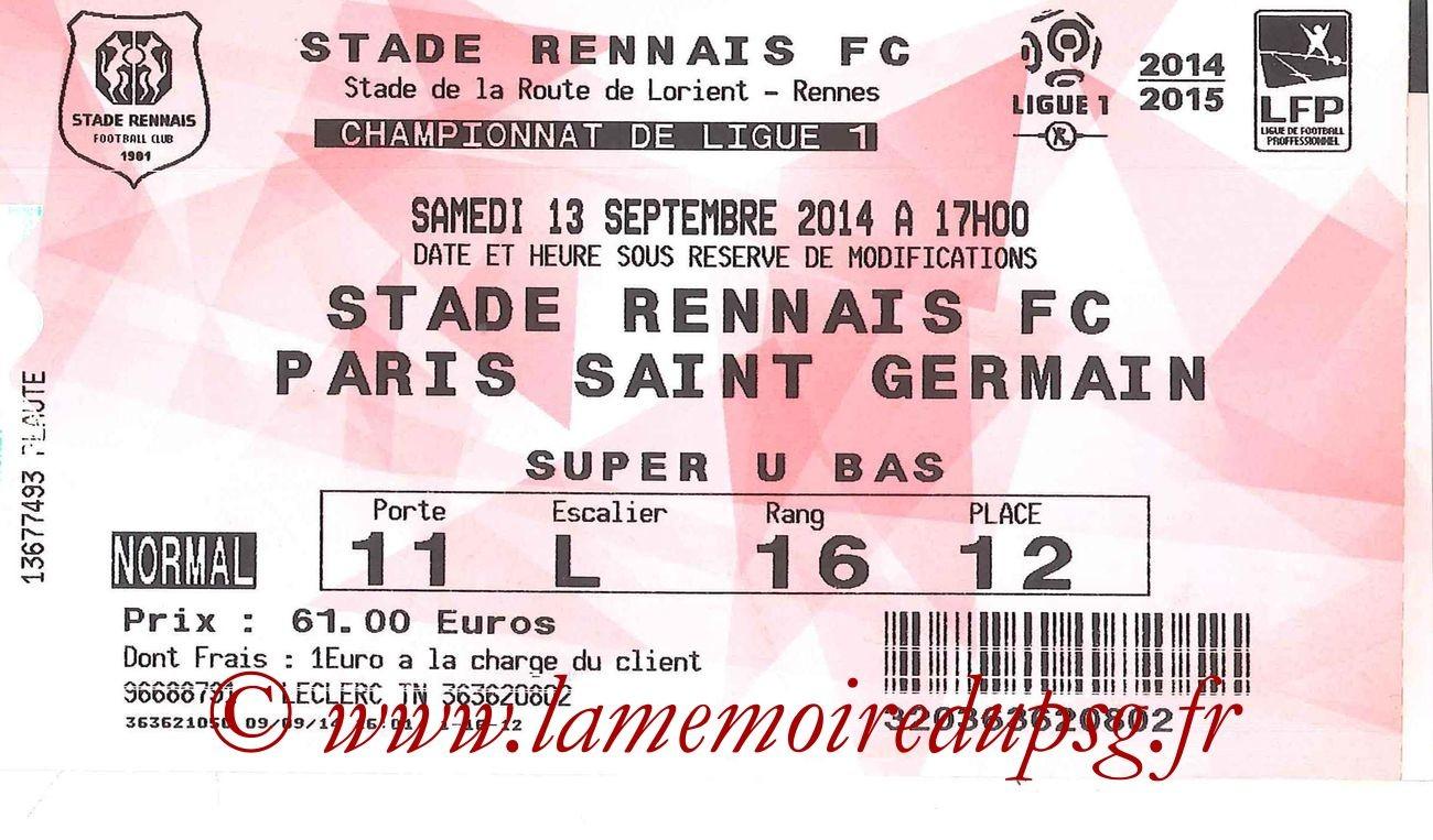 2014-09-13  Rennes-PSG (5ème L1, Ticketnet)