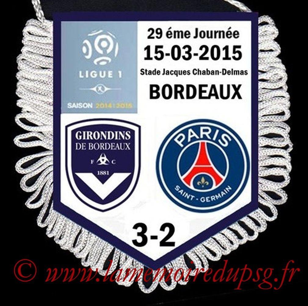 2015-03-15  Bordeaux-PSG (29ème L1)