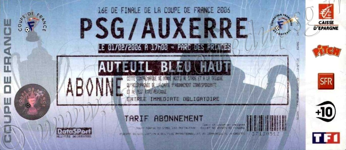 2006-02-01  PSG-Auxerre (16ème Finale CF)