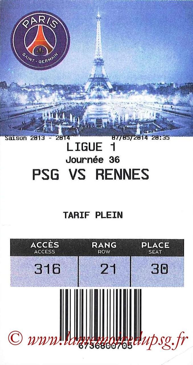 2014-05-07  PSG-Rennes (36ème L1, E-Ticket)