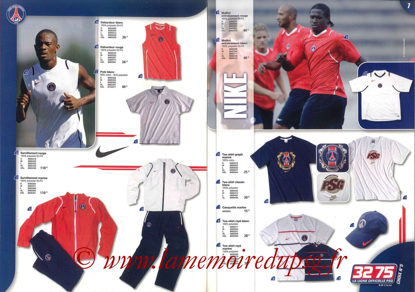 Catalogue PSG - 2006-07 - Pages 06 et 07