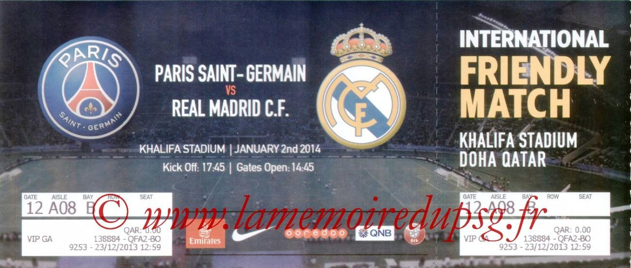 2014-01-02  PSG-Real Madrid (Amical à Doha)